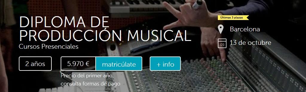 Apúntate al Diploma de Producción Musical