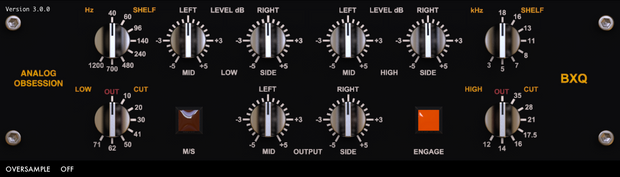 Analog Obsession  BXQ plugin EQ