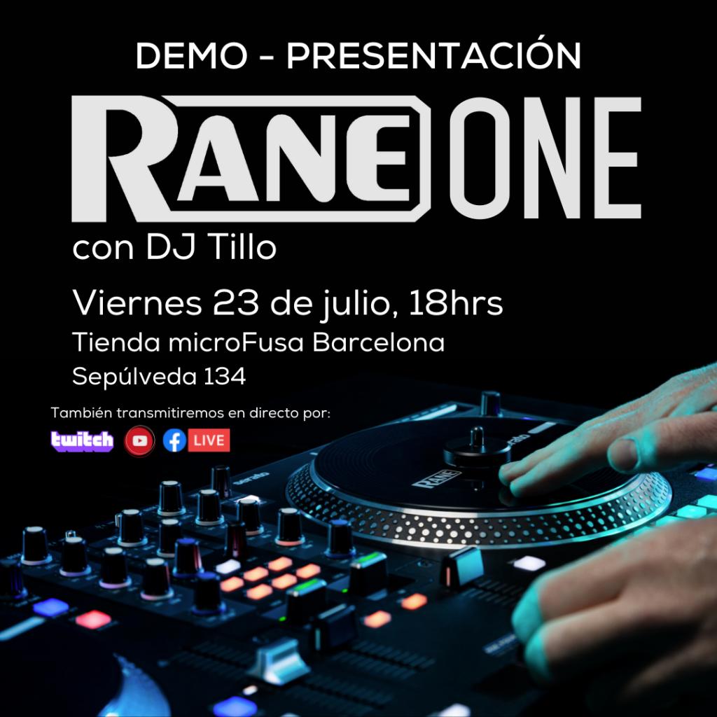 rane one presentacion microfusa barcelona dj tillo